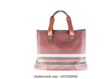 Women's hand bag in isolation. On a white background.