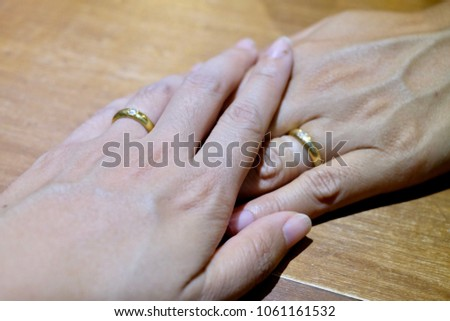 Womens Hand Engagement Ring Men Engagement Stock Photo Edit Now