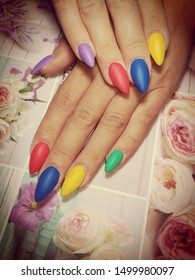 Womens hands with beautiful nails