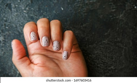 Black Hand Nails High Res Stock Images Shutterstock