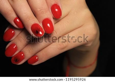 Womens Hands Stylish Manicure Stock Photo (Edit Now) 1195295926 ... f97ddb100