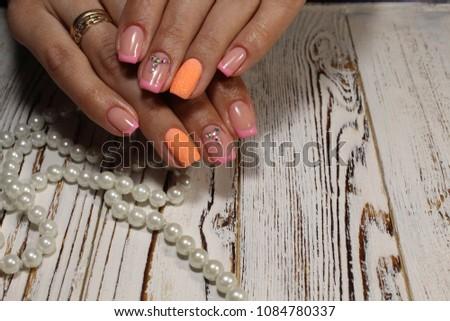 Womens Hands Stylish Manicure Best Stock Photo (Edit Now) 1084780337 ... 8e7d4cd0a