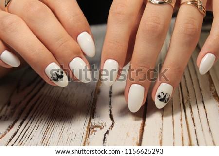 Womens Hands Stylish Manicure Best Stock Photo (Edit Now) 1156625293 ... e7ad90b40