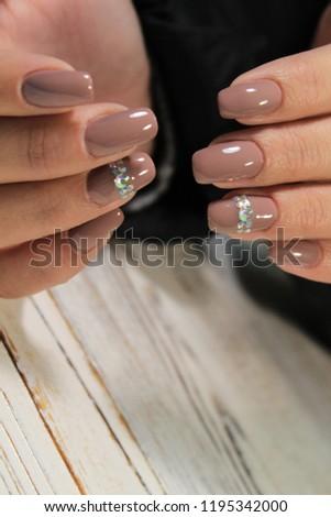 Womens Hands Stylish Manicure Best Stock Photo (Edit Now) 1195342000 ... 34d85e96f