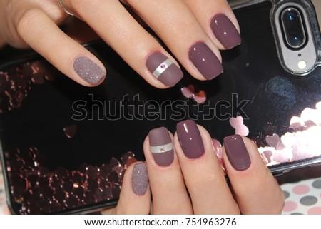 Womens Hands Stylish Manicure Best Stock Photo (Edit Now) 754963276 ... 7f0899259
