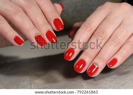 Womens Hands Stylish Manicure Best Stock Photo (Edit Now) 792261865 ... c2a2e45d6