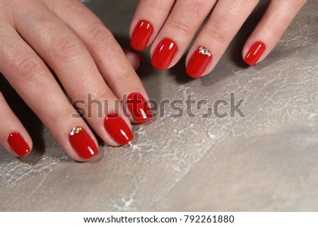Womens Hands Stylish Manicure Best Stock Photo (Edit Now) 792261880 ... 75a866beb