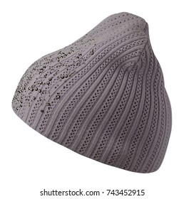 Women's hat . knitted hat isolated on white background.