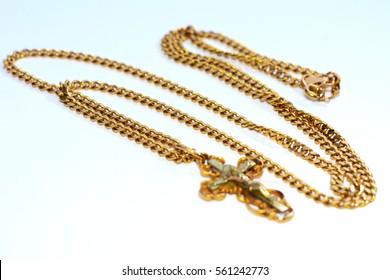 Women's jewelery and jewelery on a white background