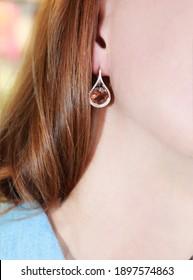 women's jewelry gold jewelry gemstone earrings