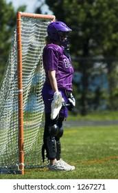 Women's lacrosse goalie