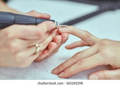 Women's manicure, mechanical manicure, hand care