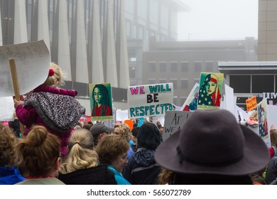 Women's march 2017.  This image is from the march in Raleigh, North Carolina.  Social issues.