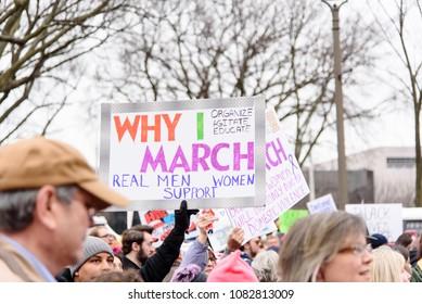 Women's March in Washington, DC, January 21, 2017