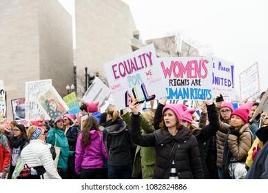 Women's March in Washington, DC on January 21, 2017