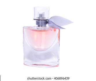 women's perfume in beautiful bottle isolated on white