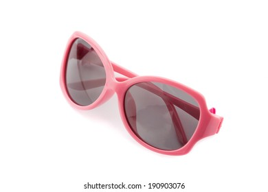 Women's pink sunglasses isolated