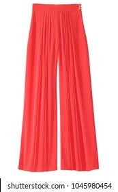 women's red casual dress pants
