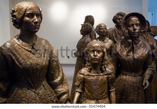 Women's Rights National Historical Park statues