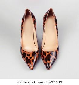 Women's sexy leopard shoes
