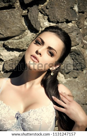 160e4fec7fb Womens Underwear Woman Sexy Lace Bra Stock Photo (Edit Now ...