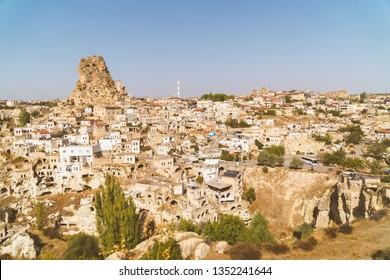 Wonderful ancient valley in Capadocia, Goreme, Turkey