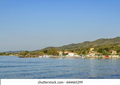 Wonderful beach near Vatera village in Lesvos island - Mytilene