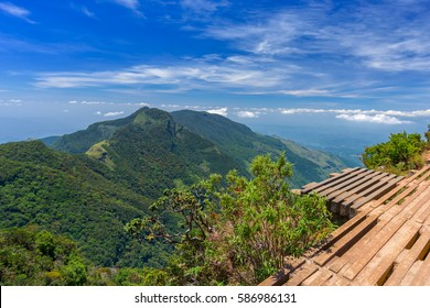 Wonderful and Beautiful landscape of World's End within the Horton Plains National Park in Sri Lanka