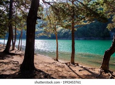 Wonderful Borabay lake nature landscape.Amasya,Turkey country