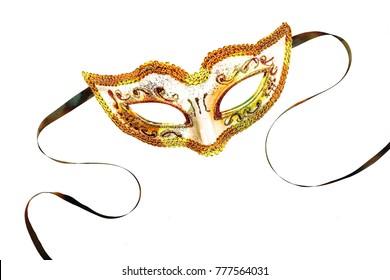 Wonderful Carnival mask isolated on white background. Mardi Gras.