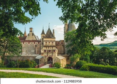 Wonderful castle in Burgundy, south of France