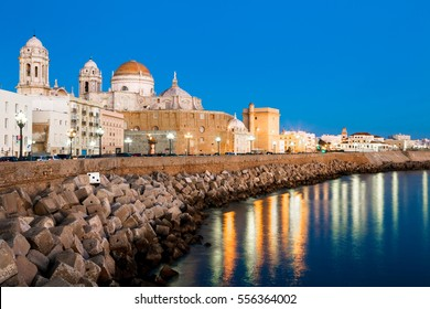 Wonderful cathedral of neoclassical style of ancient city of Cadiz
