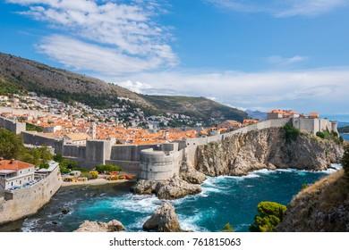 Wonderful city of Dubrovnik, Old town, Fortresses Lovrijenac and Bokar, Dubrovnik, Adriatic, Sea, Croatia, South Dalmatia, Europe