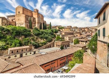 Wonderful city of Italy, Siena. Tuscany, Italy.