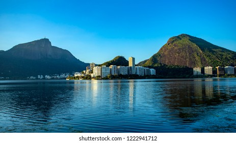 Wonderful city. Wonderful places in the world. Lagoon and neighborhood of Ipanema in Rio de Janeiro, Brazil South America