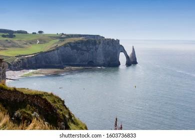 The wonderful coast line at Etretat, France