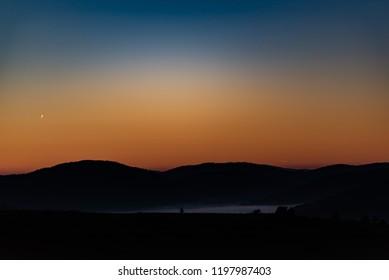A wonderful dawn in Zabljak, Montenegro.