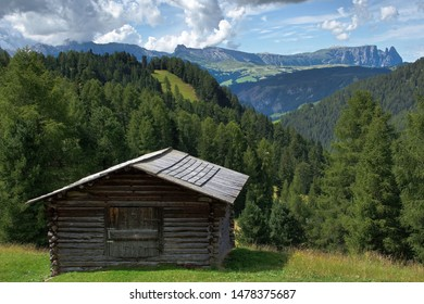 Wonderful detail of South Tyrol with the background of the Sciliar massif