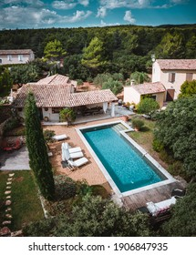 Wonderful holiday villa with swimming pool and covered terrace. Located in the nature forests on a mountain. Near the Riviera, Provence Alpes Cote d'Azur, France, Europe.