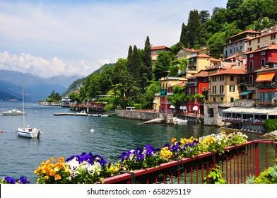 Wonderful Italian flowery Varenna on Como lake