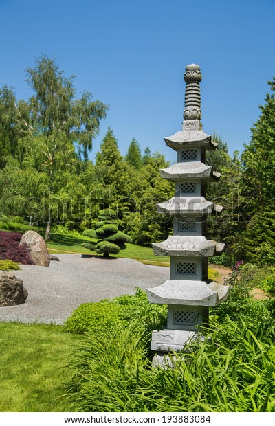 Wonderful Japanese Garden Temple Tibetan Stupa Nature Parks