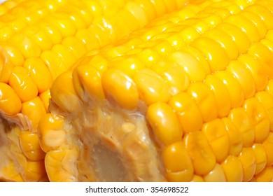 wonderful juicy ripe corn as a food item