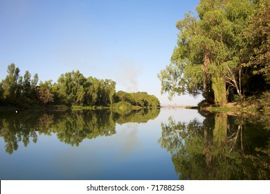 Wonderful landscape in Bamako - Mali, tress and water in vibrant colors