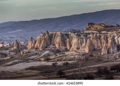 wonderful landscape of Cappadocia in Turkey