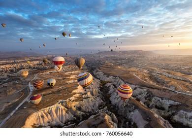 Wonderful landscape in Cappadocia , Turkey