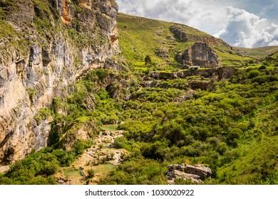 Wonderful landscape in the field of Quinoa, a village of Ayacucho - Peru