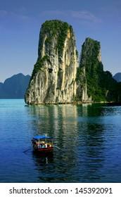 The wonderful landscape of Halong Bay, Vietnam