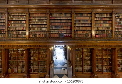 A wonderful library of old books Menendez Pelayo in Santander - Spain