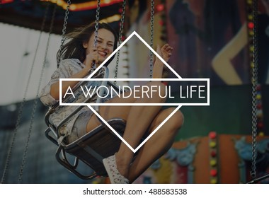 A Wonderful Life Amusement Park Carnival Concept