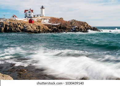 A wonderful lighthouse perched on an island in Maine.